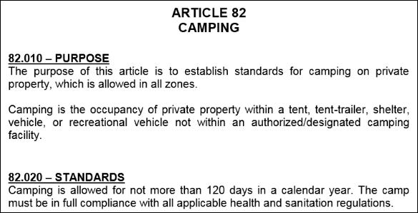 camping on land screenshot
