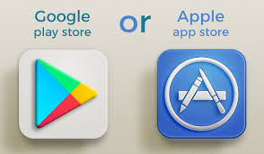 Google Play Store or Apple App Store